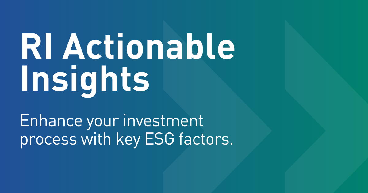 Introducing RI Actionable Insights
